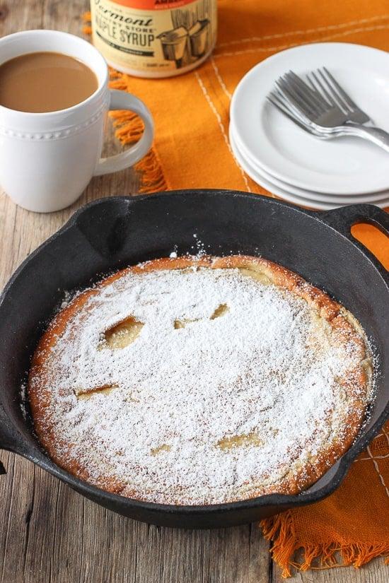 Oven-Baked Coconut Almond Pancake   mysequinedlife.com