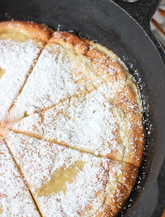 Oven-Baked Coconut Almond Pancake | mysequinedlife.com