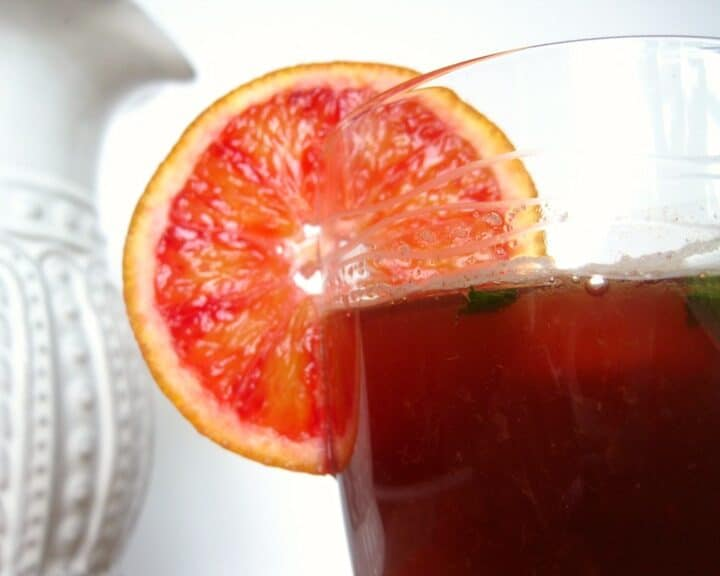 Blood Orange and Basil Iced Tea
