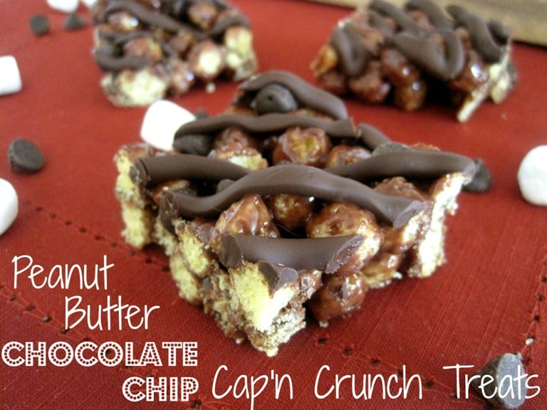 Peanut Butter Chocolate Chip Cap'n Crunch Treats