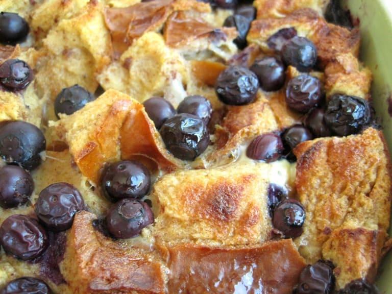 Blueberry Chai French Toast Bake