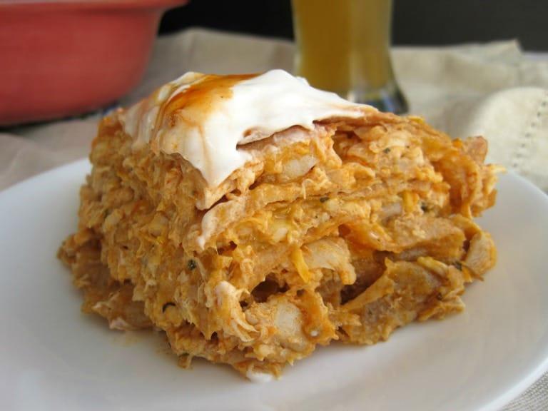 Buffalo Chicken Tortilla Pie | mysequinedlife.com
