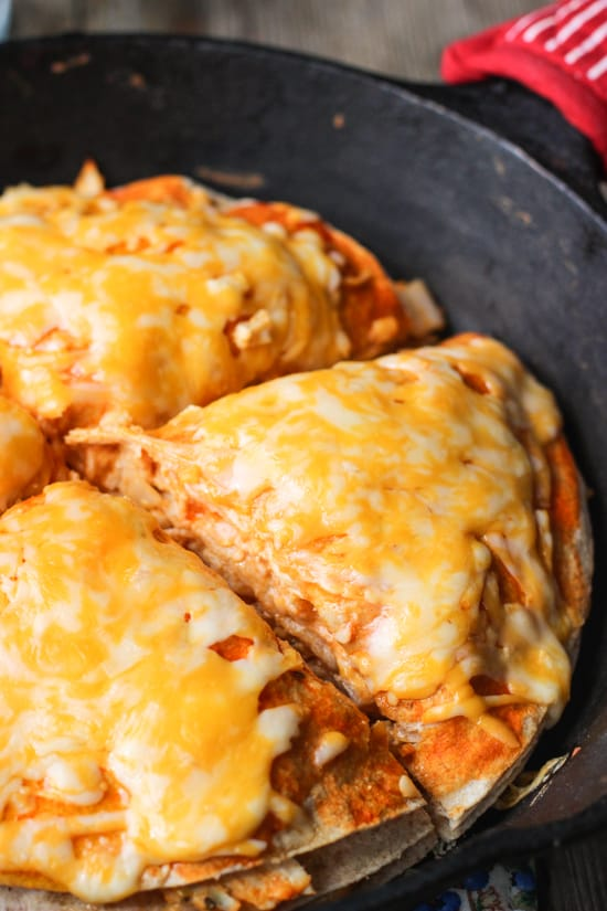 Buffalo Chicken Tortilla Pie | mysequinedlife.com