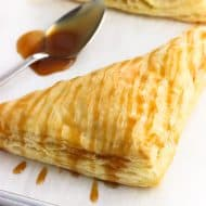 Coconut Pineapple Turnovers with Caramel Sauce