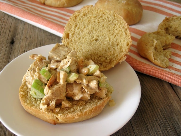 Hint of Curry Chicken Salad with Cashews | www.mysequinedlife.com