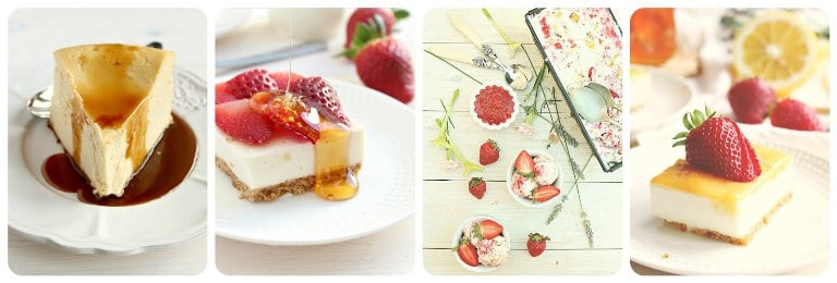 Honey & Figs Cheesecake Collage
