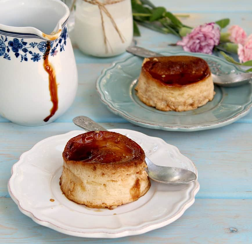 Butterscotch Cheesecake Flans