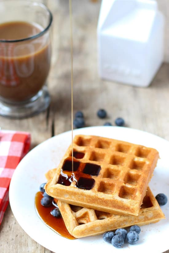 Best Ever Whole Wheat Waffles | www.mysequinedlife.com