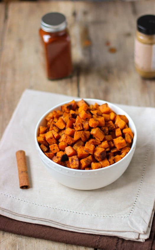 Spiced Oven-Roasted Sweet Potatoes | mysequinedlife.com
