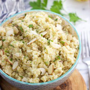 Lemon Herb Quinoa Salad with Parmesan