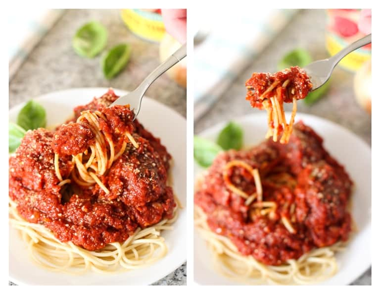 Hearty Marinara Sauce and Meatballs | My Sequined Life