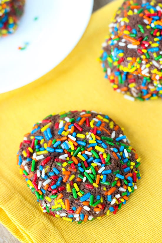 Chocolate Sprinkle Whoppers Cookies   www.mysequinedlife.com