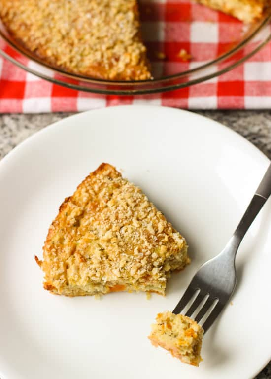Self Crusting Quiche with Zucchini and Sweet Potato | www.mysequinedlife.com