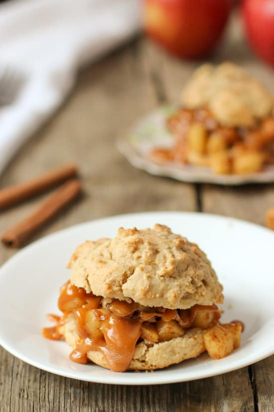 Apple Pie Shortcakes for Two | mysequinedlife.com