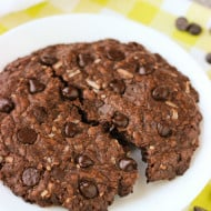 One Big Chocolate Coconut Cookie