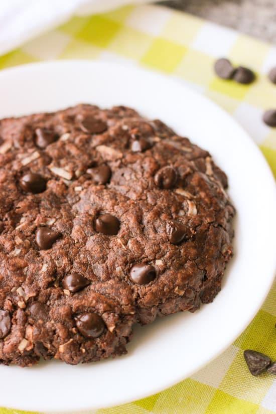 One Big Chocolate Coconut Cookie   www.mysequinedlife.com