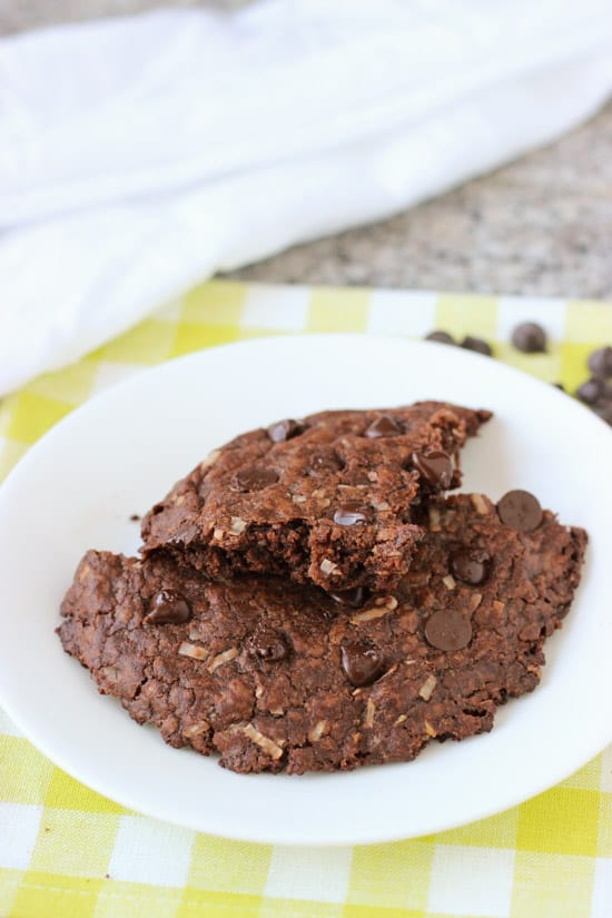 One Big Chocolate Coconut Cookie | www.mysequinedlife.com