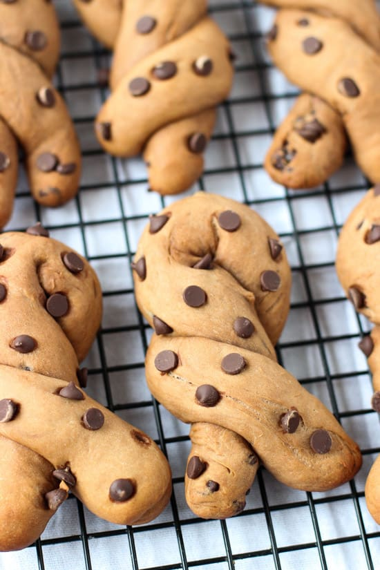 Peanut Butter Chocolate Chip Pretzels