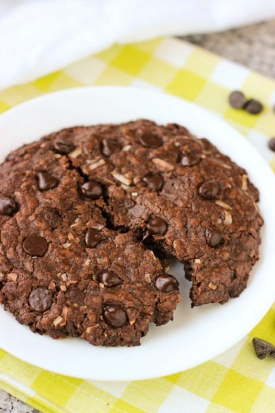One Big Chocolate Coconut Cookie | mysequinedlife.com