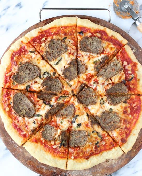Meatball Parm Pizza | mysequinedlife.com