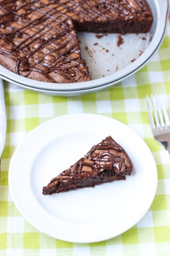 Fudgy Dark Chocolate Brownie Cake   mysequinedlife.com