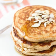 Honey Almond Crunch Pancakes