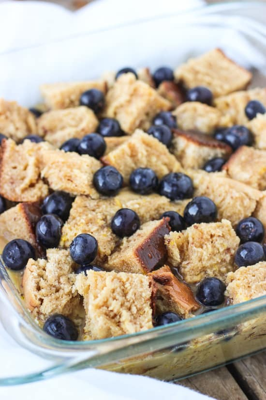 Whole Wheat Chai Blueberry French Toast Bake | mysequinedlife.com