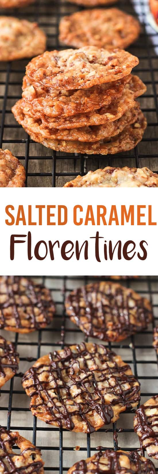 Salted Caramel Florentines | mysequinedlife.com