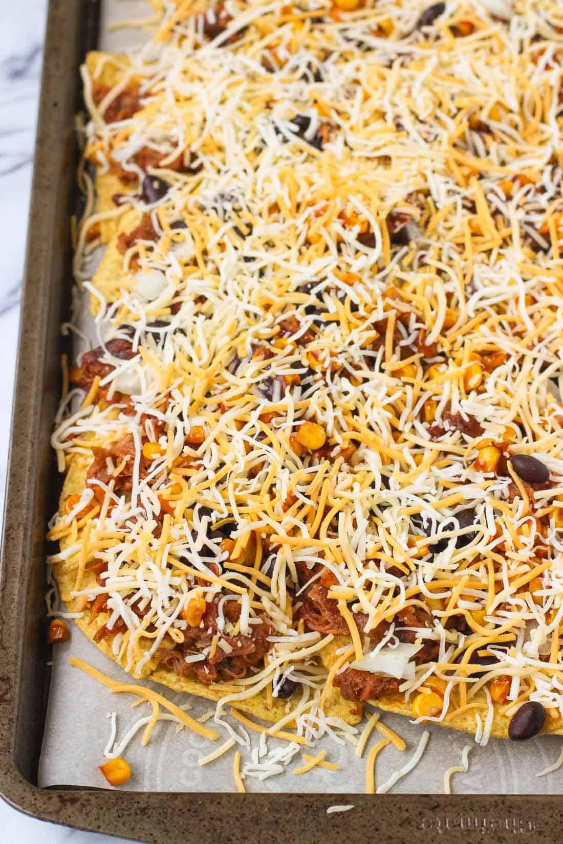 BBQ Pulled Pork Nachos | mysequinedlife.com