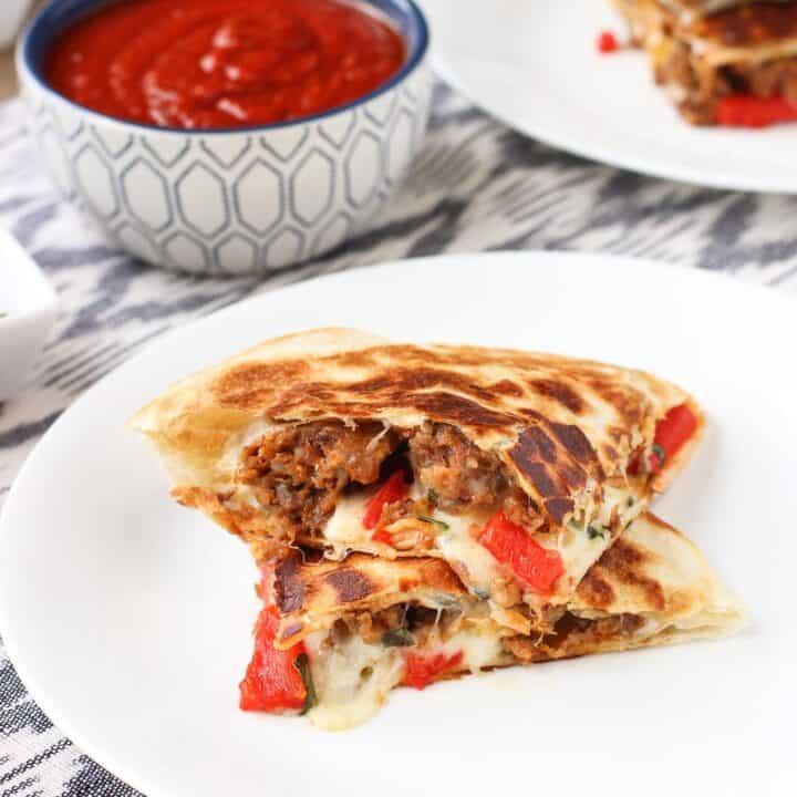 Italian Sausage Quesadillas | mysequinedlife.com