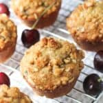 Cherry Almond Streusel Muffins | mysequinedlife.com