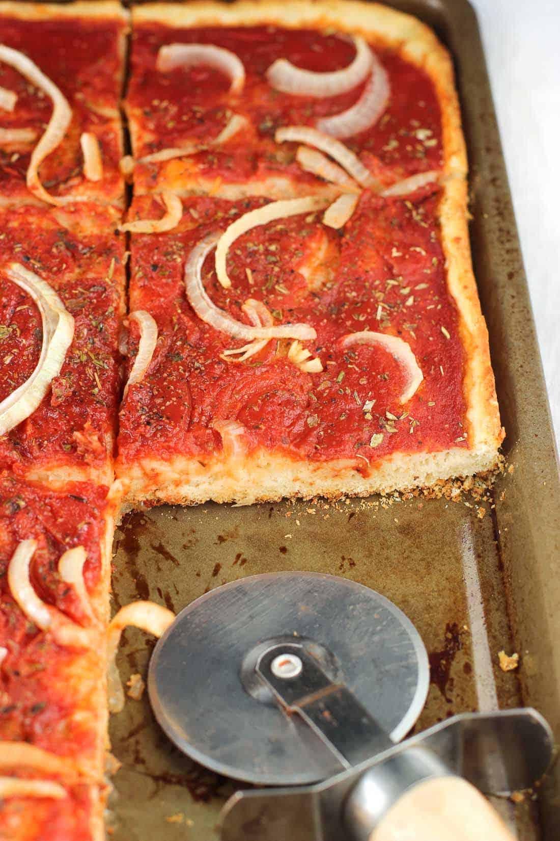 Potato Crust Focaccia Pizza | mysequinedlife.com
