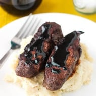 Balsamic Red Wine Flat Iron Steak