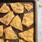 Sesame cashew brittle is a fun take on a classic candy. Cashews are covered in a crunchy (but not 'break-your-teeth' crunchy) caramelized sugar mixture and topped with toasted sesame seeds for an amazing sweet and savory dessert.