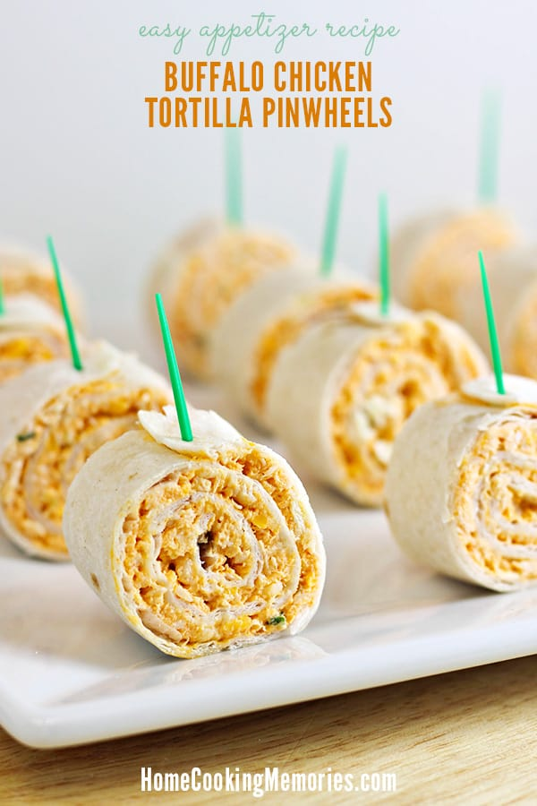 Buffalo Chicken Tortilla Pinwheels