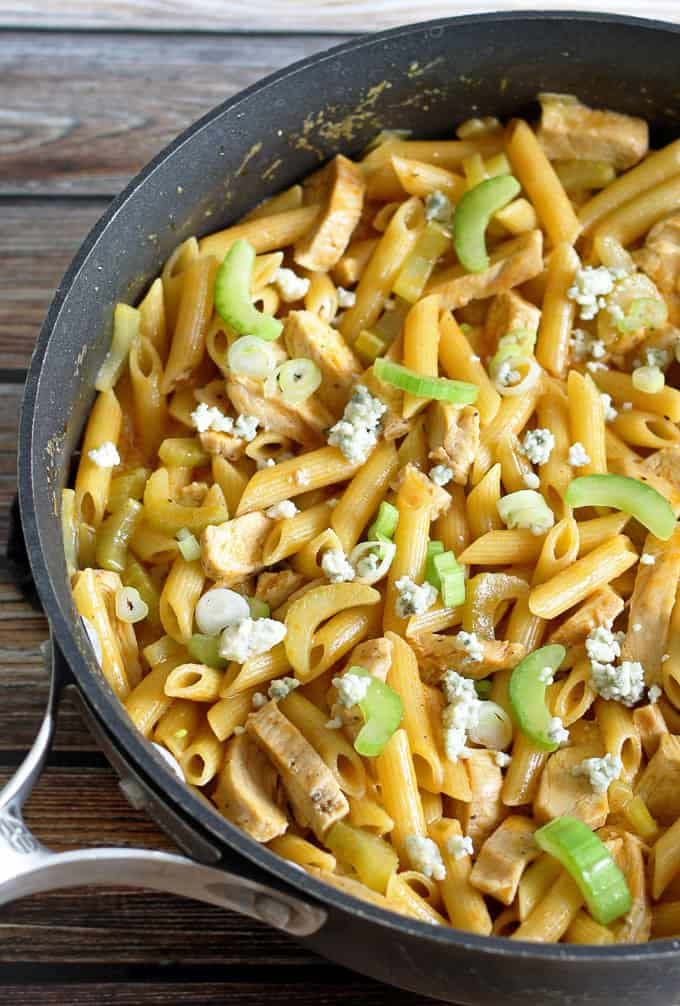 One-Pot Buffalo Chicken Pasta