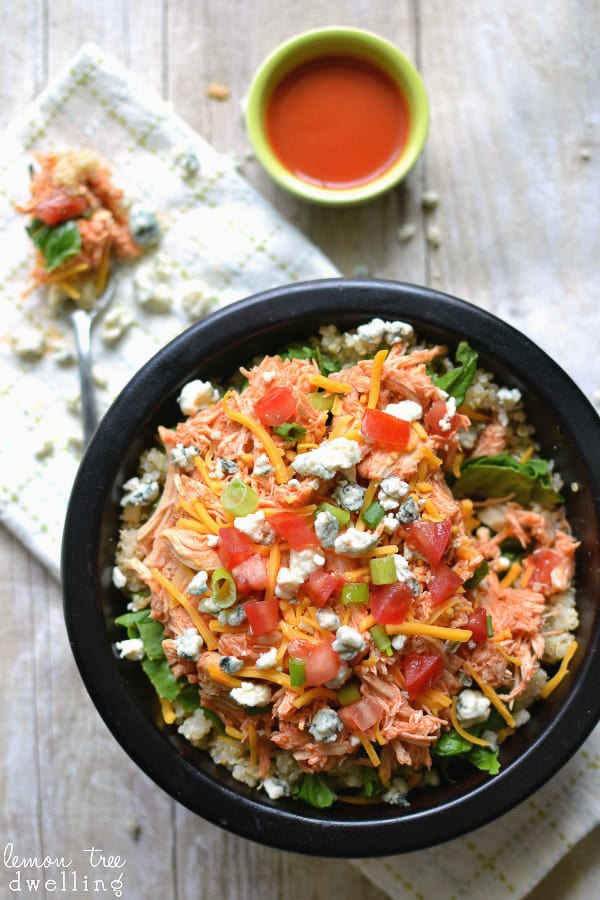 Buffalo Chicken Quinoa Bowl