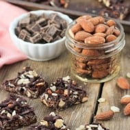 Crunchy Dark Chocolate Almond Bark