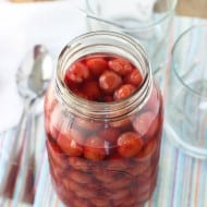 Homemade Maraschino Cherries (Two Ingredients!)