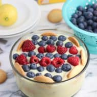 Coconut Milk Lemon Pudding with Fruit