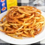 Spiralized + Baked Old Bay Curly Fries