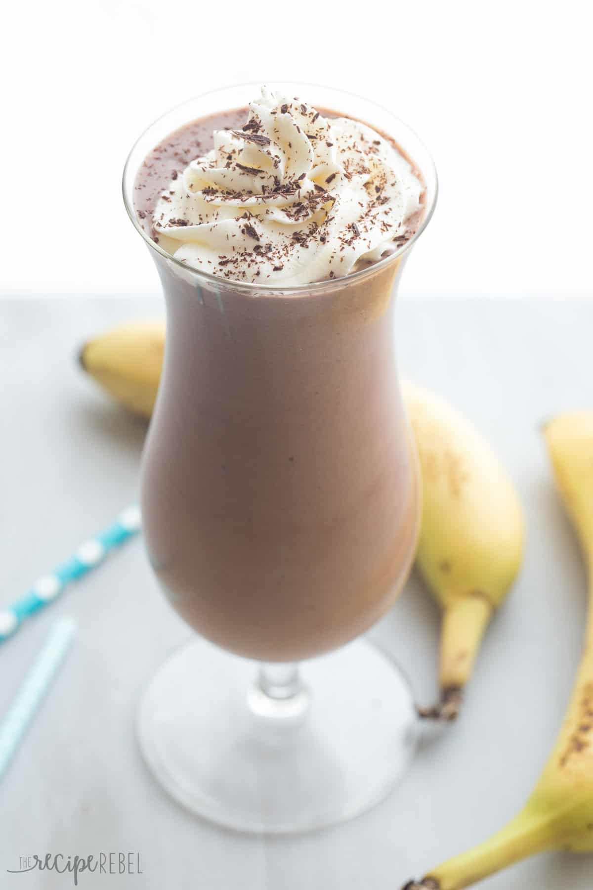 Healthy Chocolate Peanut Butter Smoothie - The Recipe Rebel