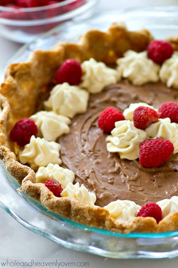 Lighter French Silk Chocolate Pie - Whole and Heavenly Oven