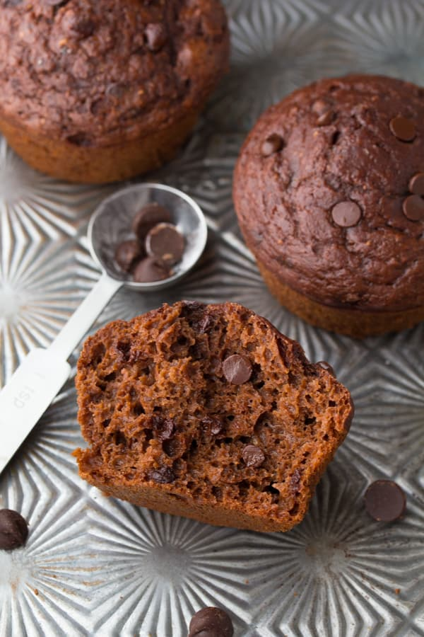 Secretly Healthy Double Chocolate Mocha Muffins - Sweet Peas and Saffron