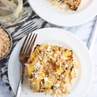 Grilled Angel Food Cake with Pineapple, Coconut, and Caramel