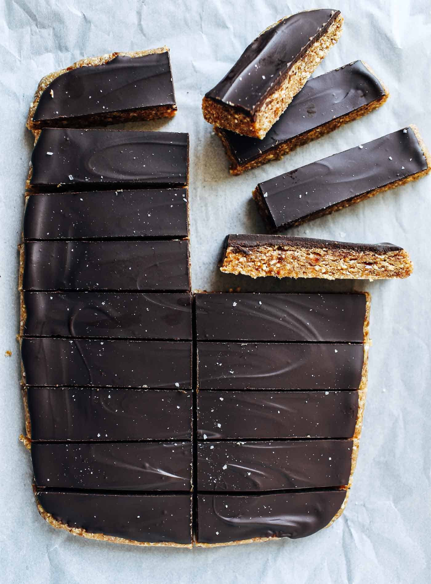Healthy Chocolate Peanut Butter Candy Bars - Making Thyme for Health