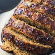 Balsamic Meatloaf with Sauteed Vegetables