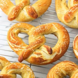 Olive Oil Soft Pretzels