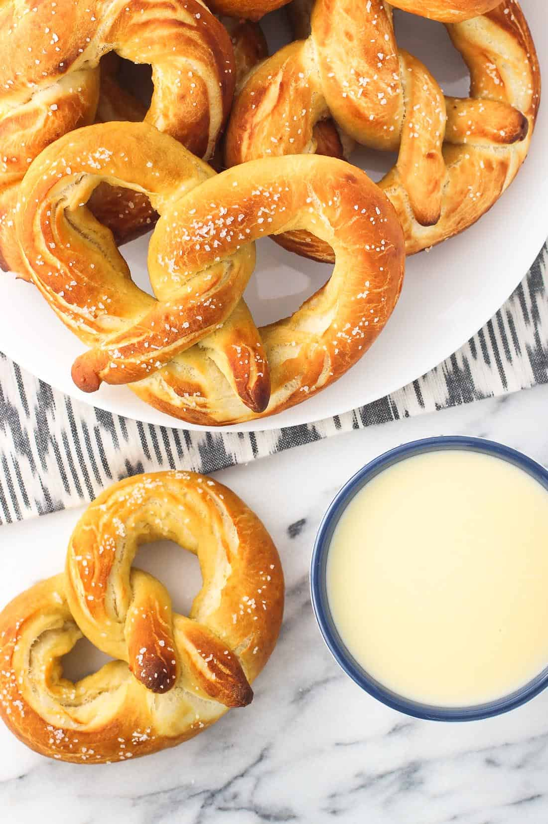 Olive Oil Soft Pretzels - chewy soft pretzels with a hint of olive oil!