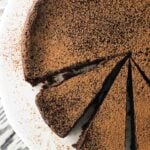 Flourless Stout Chocolate Cake - a decadent, rich flourless chocolate cake recipe featuring stout beer and espresso powder.